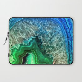 Turquoise Green Agate Mineral Gemstone Laptop Sleeve