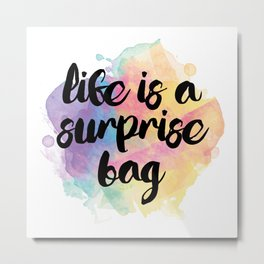 Surprise bag Metal Print