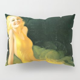 "Pinup by Rolf Armstrong ""The Yellow Gown"" Pillow Sham"