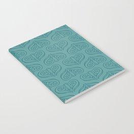 Elegant Turquoise Pattern Notebook
