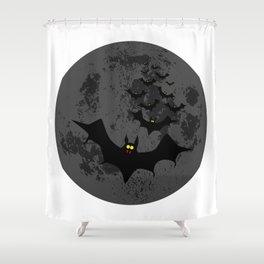 Vampire Bats Against The Dark Moon Shower Curtain