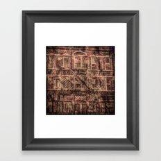 brick and iron Framed Art Print
