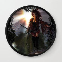 Fire in the Sky Wall Clock