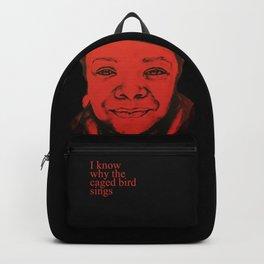 Maya Angelou - (red) Original Sketch to Digital Backpack