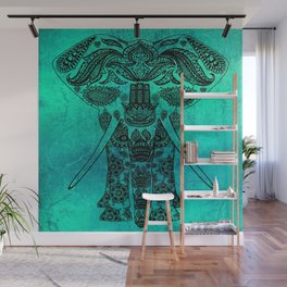 Decorated Indian Elephant Asian Elephant Art Wall Mural