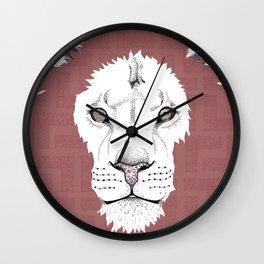 Digital/Hand drawn Lion illustration Wall Clock