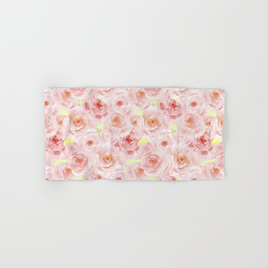 Rose pattern- Beautiful watercolor roses backround Hand & Bath Towel