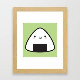 Kawaii Onigiri Rice Ball Framed Art Print