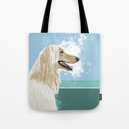 A is for Afghan Tote Bag