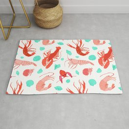 Dance of the Crustaceans in Pearl White Rug