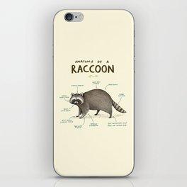 Anatomy of a Raccoon iPhone Skin