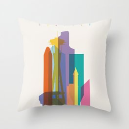 Shapes of Seattle accurate to scale Throw Pillow
