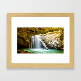 Natural Bridge Cave Waterfall - Quensland, Australia. Framed Art Print