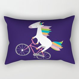 bike unicorn  Rectangular Pillow