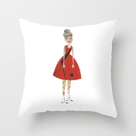 Vintage mum Throw Pillow