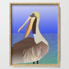 Brown Pelican Serving Tray