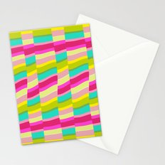 MULTI COLOURED STRIPE Stationery Cards