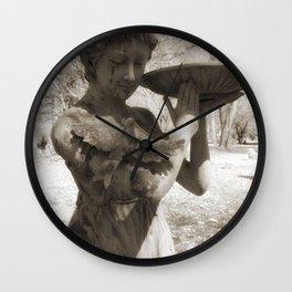 The bird woman Wall Clock