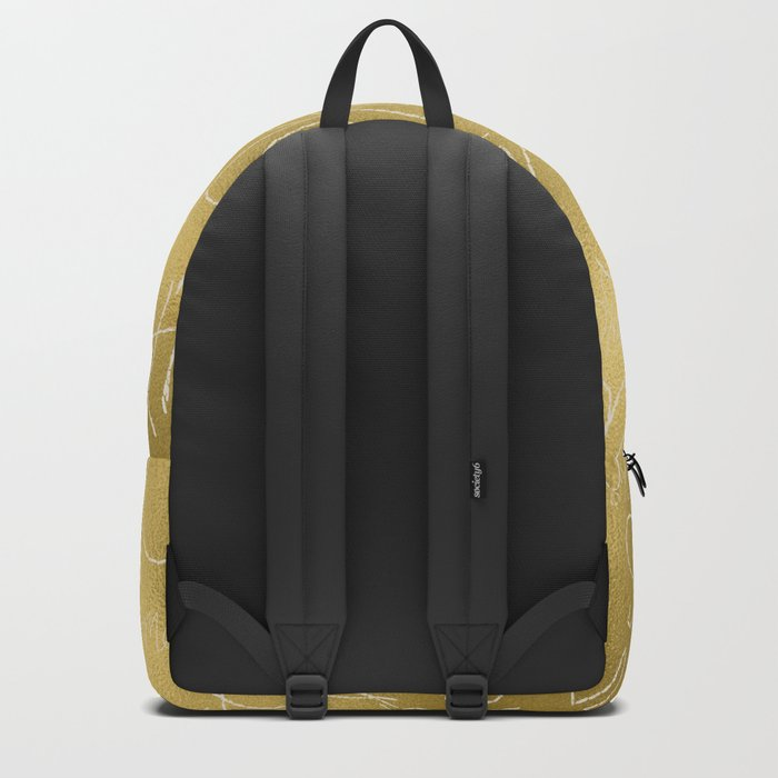 Merry christmas- christmas typography on gold pattern Backpack