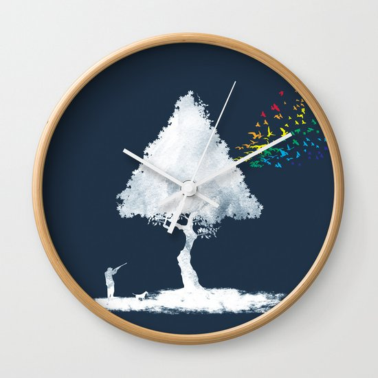 colourful hunting Wall Clock