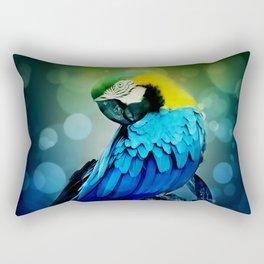 Macaw on branch Rectangular Pillow