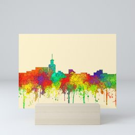 Santa Fe, New Mexico Skyline - SG Mini Art Print