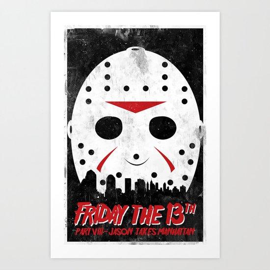 Friday The 13th Part VIII Art Print