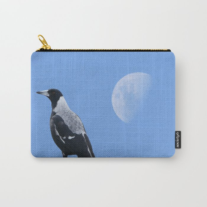 Magpie and moon Carry-All Pouch