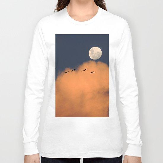 Moon cloud sky 7 Long Sleeve T-shirt