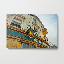 Pub Yellow Metal Print