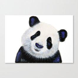 Panda Bear ' HuGSy ' by Shirley MacArthur Canvas Print