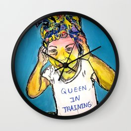 Black Queen in Training Wall Clock