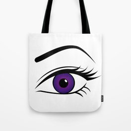 Violet Left Eye Tote Bag