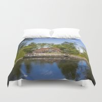 michigan Duvet Covers featuring Michigan Cottage by davehare