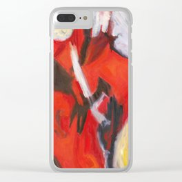 Red Sonja - Red Yellow Abstract Painting Clear iPhone Case