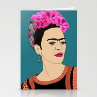 frida kahlo Stationery Cards featuring Frida Kahlo by Stephanie Jett