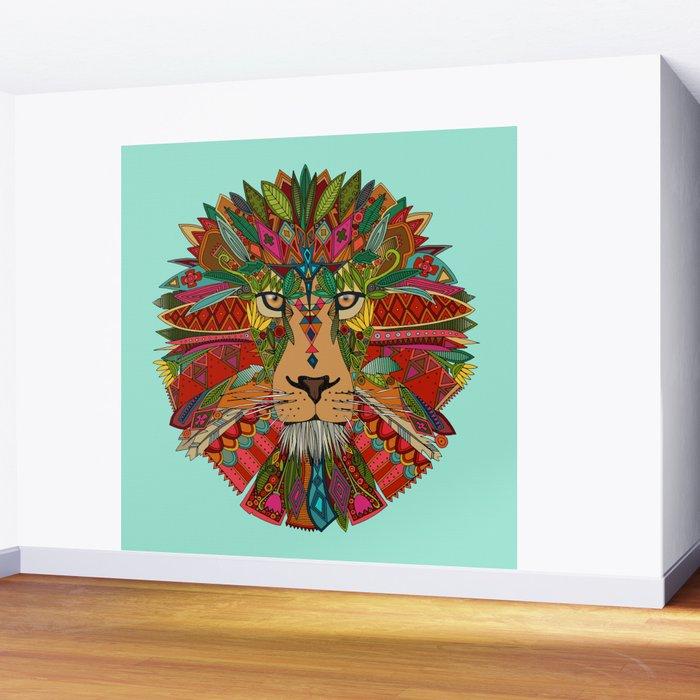 lion mint Wall Mural