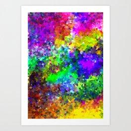Aquarela_Textura digital  Art Print