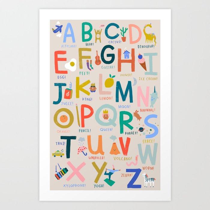 Fun Things Alphabet Art Print
