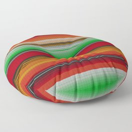 Mexican serape #6 Floor Pillow
