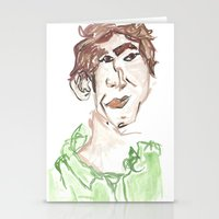 chris evans Stationery Cards featuring Chris by Sadie Padial