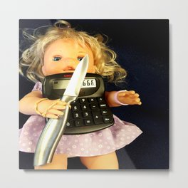 Miss Merry Sunshine Metal Print