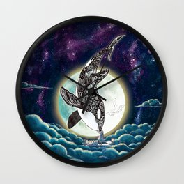 Kiss Good Night - Orca III Wall Clock