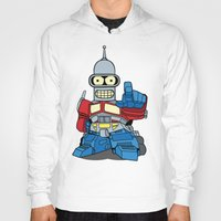 bender Hoodies featuring Optimus Bender by darko888