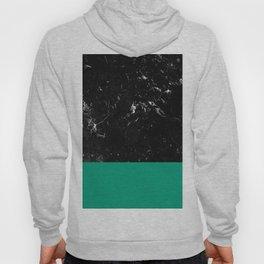 Emerald Meets Black Marble #1 #decor #art #society6 Hoody