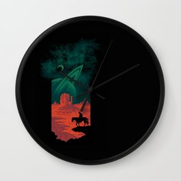 Final Frontiersman Wall Clock
