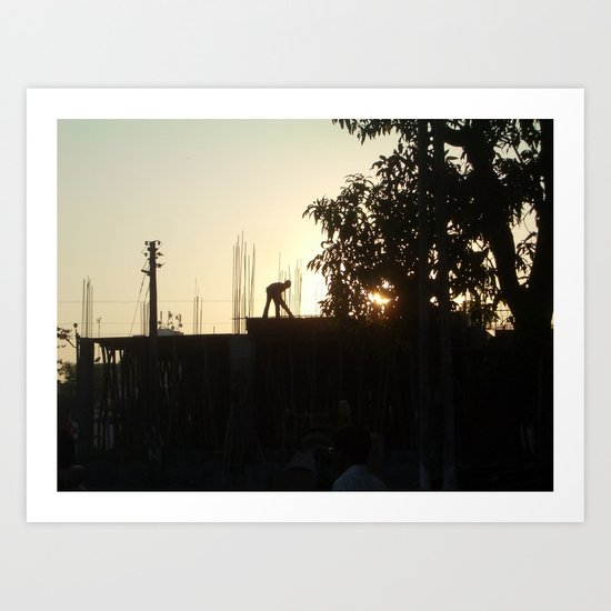 Construction India Art Print
