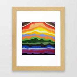 Mini Mountain Stripes Framed Art Print