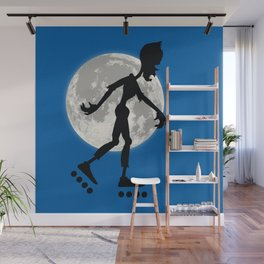 Friendly Zombie On The Go - Roller-skates Wall Mural
