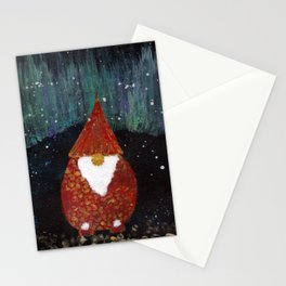 Yule scandinavian nordic gnome nisse Stationery Cards
